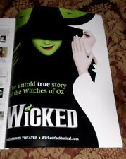 2016 Mint Print Ad Poster Wicked Untold true story of Witches of Oz Broadway .