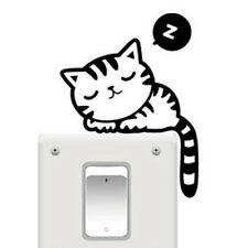 5PCS Cute Sleeping  Cat Wall Light Switch Sticker Decal Room Mural Home Decorate