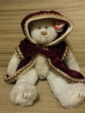 "TY The Attic Treasures Collection Gem ""Let It Snow"" Plush Bear w/ Velvet Coat"