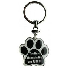 Paw Print Key Chain Fob The Best Things in Life are Furry