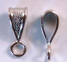 Small Close Loop Bails Silvertone Closed Loop #429 (24) Silver Color
