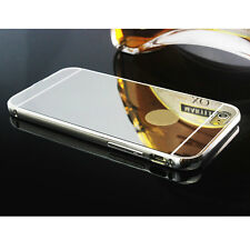Luxury Aluminum Ultra-thin Mirror Case Cover for iPhone 6 6S Plus Silver
