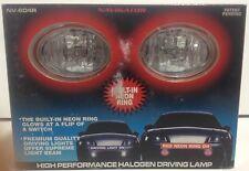 """PILOT NAVIGATOR 3"""" OVAL RED NEON RINGS FOG LIGHTS DRIVING LAMP H3 12V 55W KIT"""