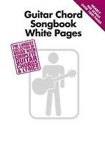 Guitar Chord Songbook White Pages Sheet Music Guitar Chord SongBook NE 000702609