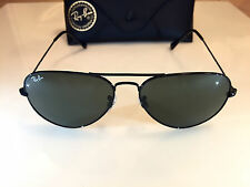 Ray Ban Aviator Black Frame Black/Green G-15XLT Lens 58mm Ray Ban 3025 L2823