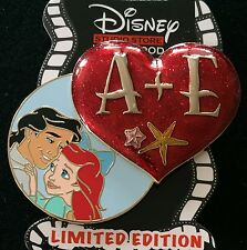 DISNEY PIN DSF THE LITTLE MERMAID ARIEL AND ERIC VALENTINE HEART A+E DSSH LE 300