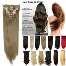 Heat Resistant Full Head Clip in Natural Hair Extensions real as human hair gn15