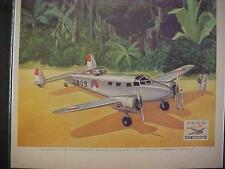 OLD~WORLD WAR II LOCKHEED HUDSON BOMBER ART PRINT AD~ORIGINAL ANTIQUE WWII 1942