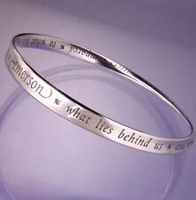 What Lies Within Bracelet Bangle Inspirational Message STERLING SILVER Emerson