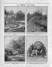 Forteresse du Mont Valérien Fusiliers Marins Bois Paris DCA Zeppelins 1915 WWI