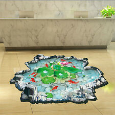 3D Lotus Floor Sticker Removable Wall Stickers Vinyl Decals Mural Decor #2