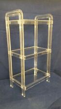 Clear Acrylic Lucite Free Standing 3 Shelf Etagere or Bookshelf