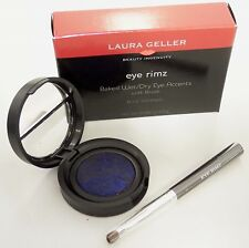 Laura Geller BLUE VOODOO Eye Rimz Baked Wet/Dry Eye Accents Shadow/Liner w/Brush