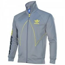 NEW ADIDAS ORIGINALS CUT LINE TT TRACK TOP JACKET S SM TECH GREY YELLOW Z73716
