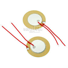 Packs of 10 Piezo Elements Sounder Sensor Trigger Drum Disc 27mm +wire copper