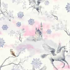 FAIRYTALE UNICORN WALLPAPER - LILAC - ARTHOUSE 667801 NEW GIRLS GLITTER EFFECT
