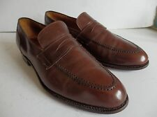 CHURCH'S Custom Grade in pelle marrone mocassino uomo TG UK 10 F