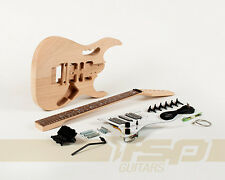 Solid Body DIY Electric Guitar Builder Kit Project Mahogany Body Vine Inlay New