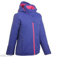 CHILDRENS WARM HOODED SNOW QUEST GIRLS SKI JACKETS BLUE/PINK FOR 8 YEARS OLD