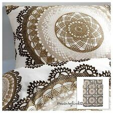 Lyckoax Full Queen Duvet Cover Quilt Cover 3pc set White Brown Medallion design