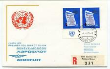 FFC 1970 Aeroflot First Direct Flight Geneve Moscou REGISTERED TU 104 Onu