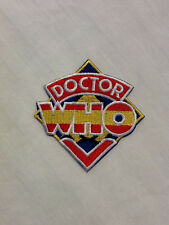 Dr. Who TV Show Throwback Logo Hat Shirt Jacket Embroidered Iron On Patch