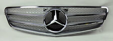 Mercedes C Class W204 08-14 AMG Style Front Silver & Chrome Hood Sport Grill