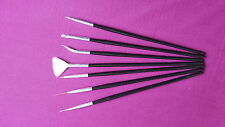 Nail Art Brush Set Black (7pcs) Gift UK Seller