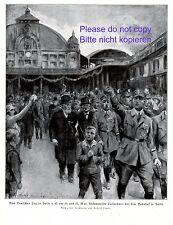 Deutscher Tag in Halle XL Kunstdruck 1924 Bahnhof Parade Marsch Deutschland +