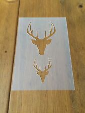 Stag Deer Head 3 Mylar Reusable Stencil Airbrush Painting Art Craft DIY Home