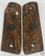 RUGER 22/45 MKIII SPALTED MANGO laser cut TARGET GRIPS THUMB-REST Palm Swell A-6