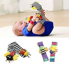 Lamaze Baby Socks Toys Wrist Rattles and Foot Finders Set 4pc New Style 1