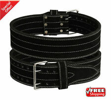 2Fit Leather Power Weight Lifting Body Building GYM Training Back Support Belt L