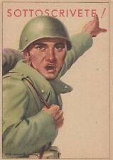 """C3355) WW2 BANCO DI NAPOLI """"SOTTOSCRIVETE"""", SOLDATO CHE INDICA."""