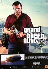 "16.5 x 23.5"" pre-order Asia POSTER (3) Grand Theft Auto V five GTA 5  NO Game"