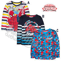 Spiderman Marvel Official LICENSED top t shirt long sleeve 2-8 years boys HO1069