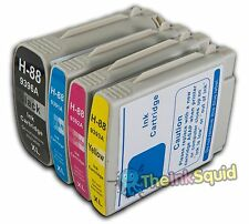 4 HP 88 XL Ink Cartridges for Officejet/Pro L7500 HP88