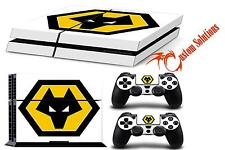 PS4 console & contrôleur Decal Autocollant peau set loups FC Football Club uk stock