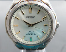 100% Authentic SEIKO DOLCE KINETIC AUTO RELAY Electronic Balance Men's Watch