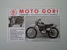 advertising Pubblicità 1974 MOTO GORI 125 REGOLARITA' COMPETIZIONE
