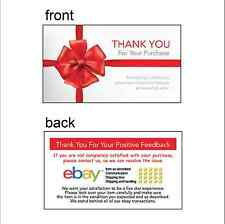 200 eBay Seller 5-Star Thank You Business Card 9cmX5cm NOT COLOR COPIED R1
