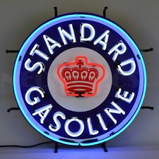 Standard Gasoline Neon Sign gas Chevron Standard Oil Spirit SOCAL Pacific crown