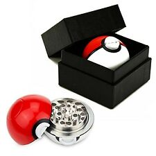 3 Pc Sharp Teeth Pokemon Go Spice Grinder Tobacco Herb Mill Poke-Ball Aluminum