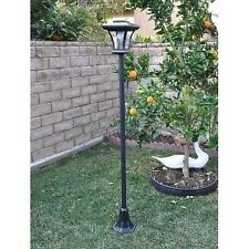 Outdoor Solar Lamp Post Garden Lawn Yard Walkway LED Light W/ Adjustable Height