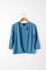 Rebecca Moses cashmere cardigan, blue open cardigan sweater size Small