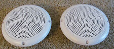 "A PAIR RV Marine Camper Trailer White 5 1/4"" Recess Mount Speakers UV Protected"