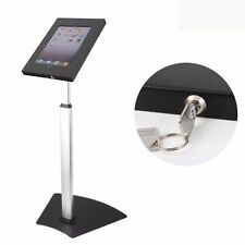 IPAD ANTI-THEFT TAMPER-PROOF FLOOR STAND KIOSK w LOCK FITS IPAD 2 3 4 AIR CASE