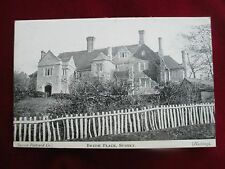 """OLD  POSTCARD ,"""" BREDE PLACE, SUSSEX """"."""