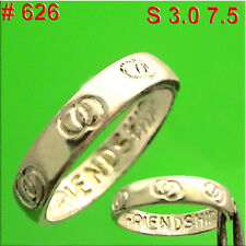 #626 Friendship Infinity Ring Love  Finger Hand Jewelry 925 Sterling Silver