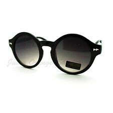 Womens Vintage Fashion Keyhole Sunglasses Round Circle Frame Black Gun Metal
